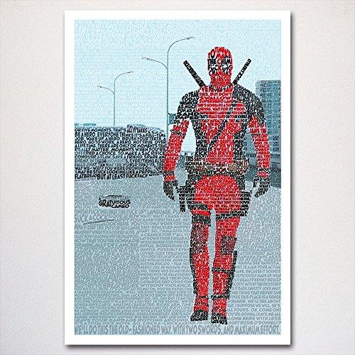 Deadpool word art poster   typography art  