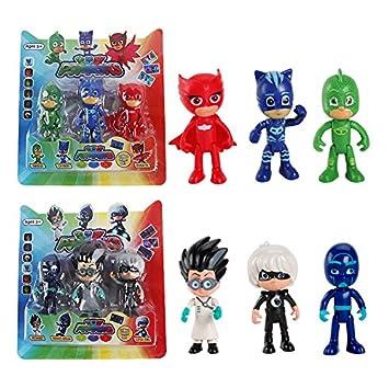 3PCS/Lot PJ Figure Pjmasks Hero Doll Catboy Owlette Gekko Lunar Remeo Juguete Brinquedo PJ