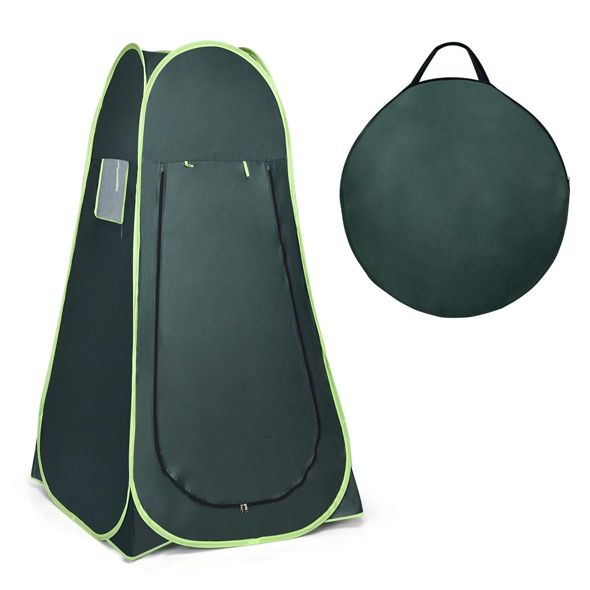 Giantex Pop Up Shower Tent Portable Camping Tent for Dressing, Toilet, Changing Room, Outdoor Privacy Shelter(Green) by Giantex