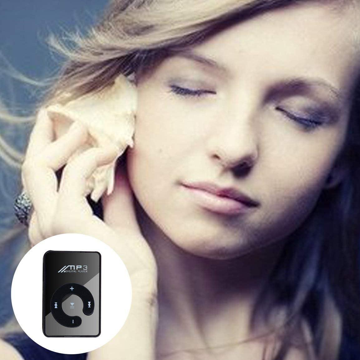 Couleur: Noir Portable Mini Clip Lecteur MP3 USB Musique Support Media Micro SD TF Carte Mode HiFi MP3 pour Les Sports de Plein air