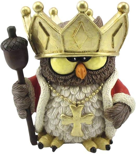Amazon.de: Funny Gufi - Eule als Waldkönig mit Krone, Zepter und Kette