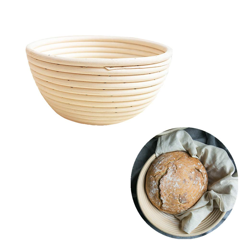 Bread Proofing Basket Banneton Brotform Dough Bread Making Rising Set with Cloth Liner for Bakers Handmade Lovers