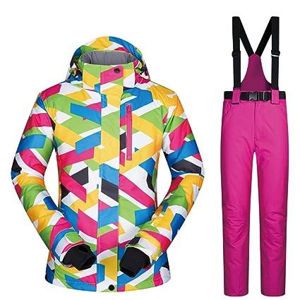 FELICIG Chaqueta de esquí y pantalón de Snow para Mujer Debajo del Abrigo Zero (Color