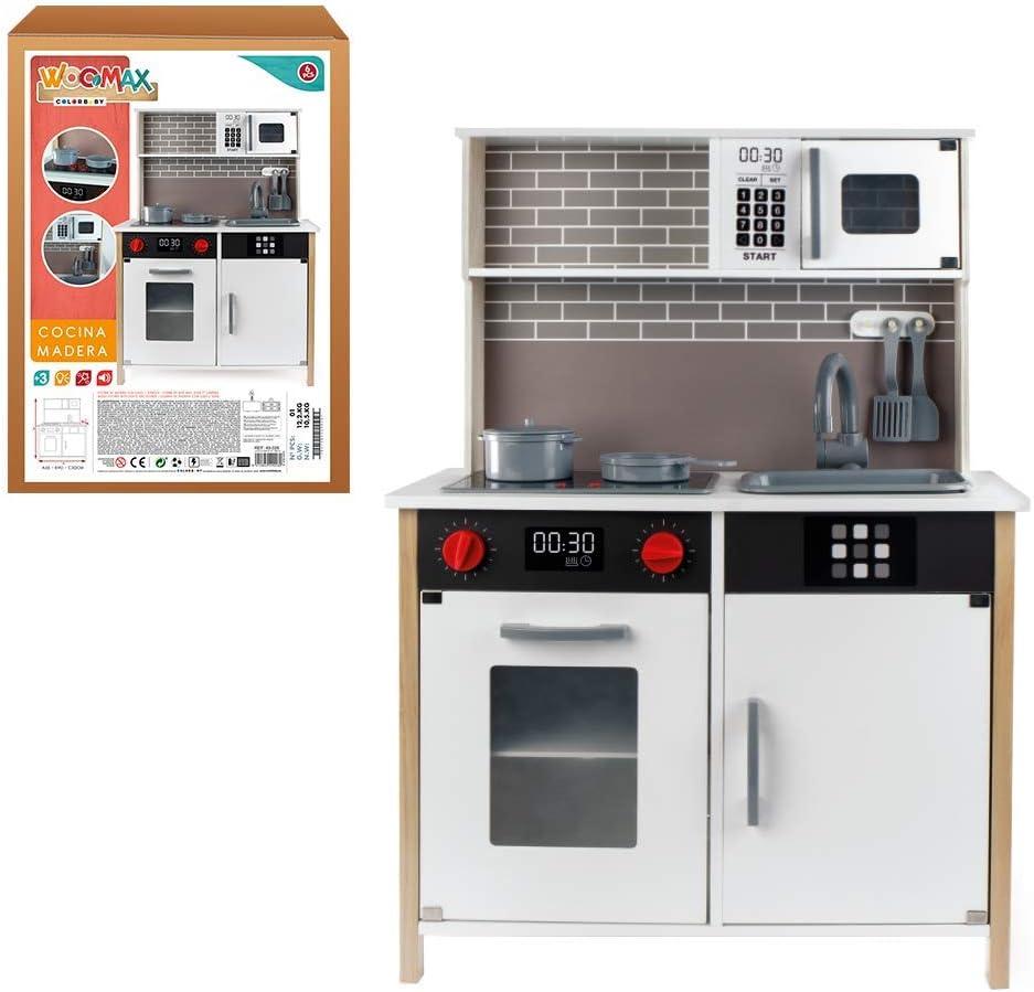WOOMAX - Cocina de madera con accesorios, luz y sonido (ColorBaby ...