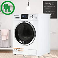 """BestAppliance Washer Dryer Combo 24"""" Compact Laundry with 2.7Cubic. ft. Capacity Electric Dryer and Washer Stainless Steel Drum and Four Transport Bolts (Basic)"""
