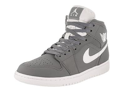 Jordan Nike Men's Air Mid Cool/Grey/White/White Basketball Shoe 11.5 Men