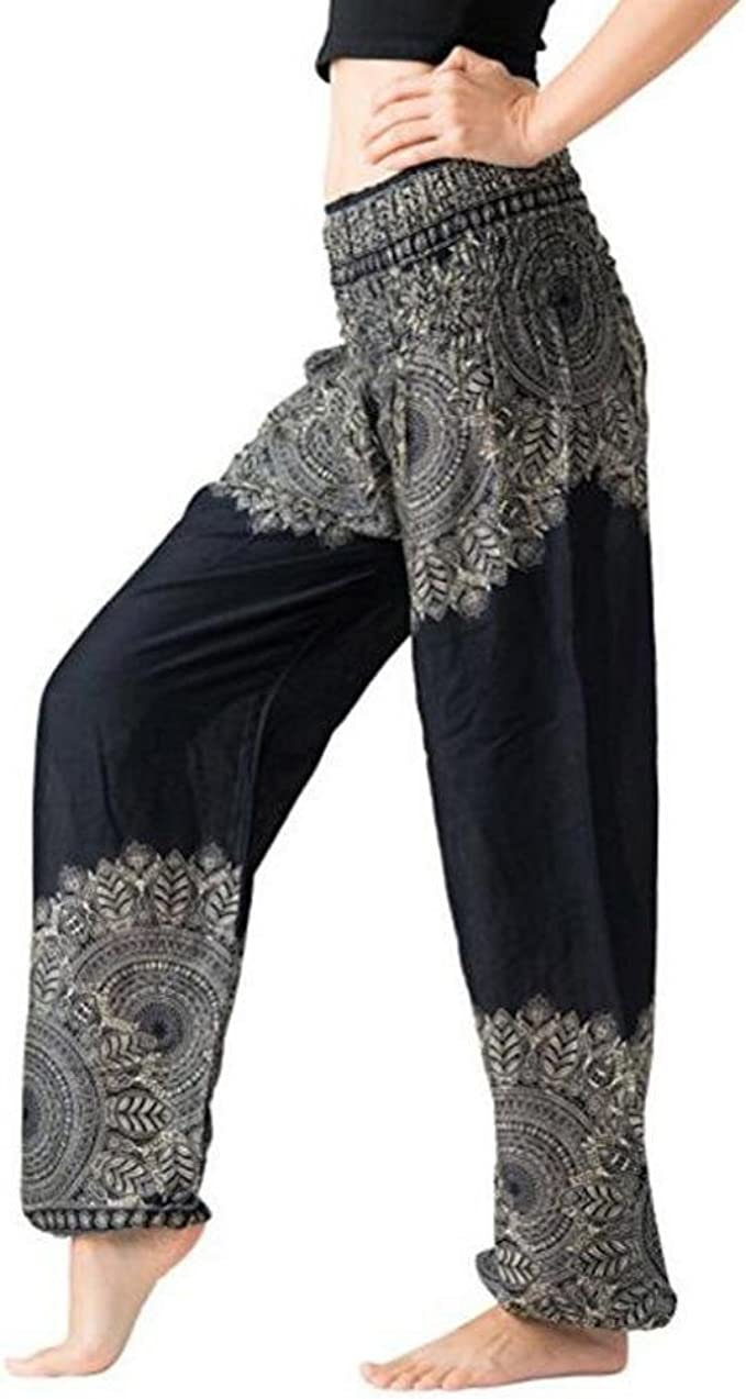 Amazon.com: Limpieza. Litetao – Pantalón tailandés de Harem ...