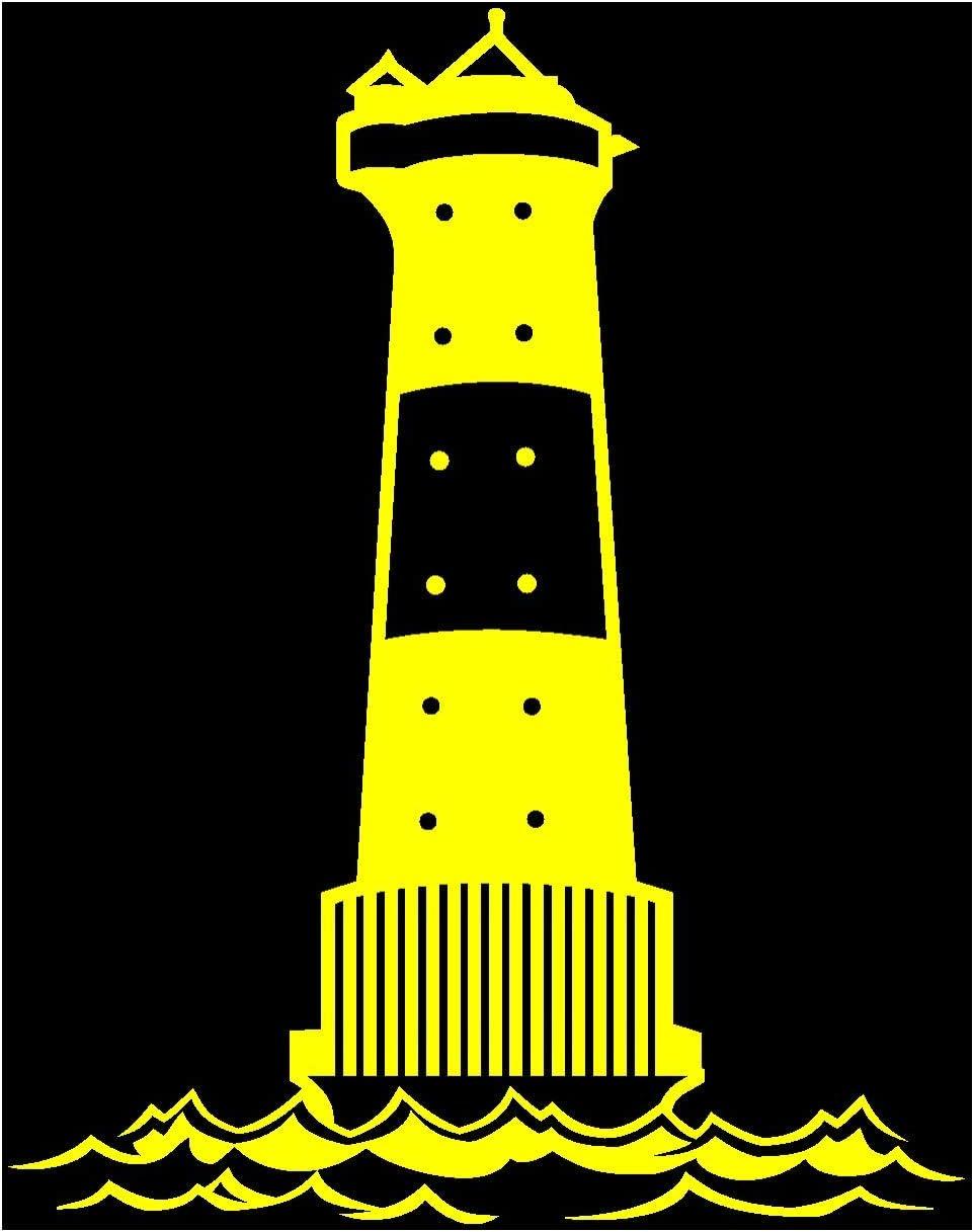 Samunshi Leuchtturm Arngast Aufkleber In 8 Größen Und 25 Farben 38x50cm Gelb Küche Haushalt