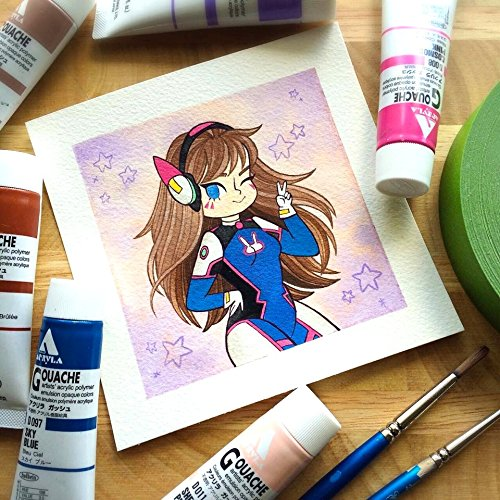 dva-overwatch-watercolor-print-by-michelle-coffee