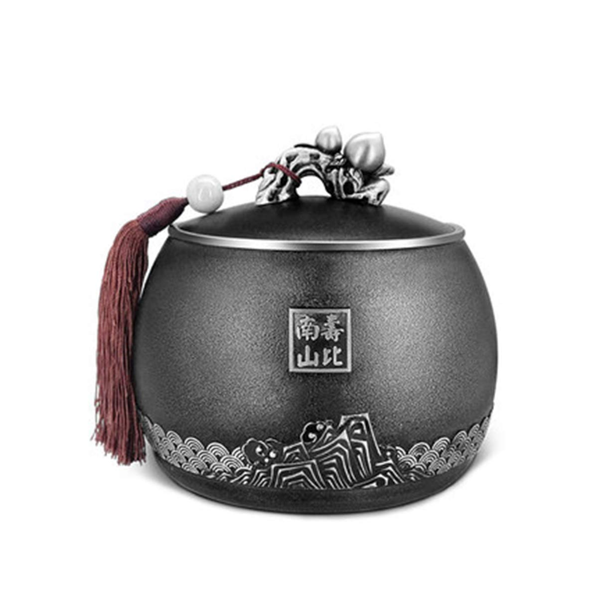 13.813cm Kuqiqi Pet Urn,Cremation Urns For Pets,Functional Urn,Ceramic Sealed,Keepsake Box For Dogs And Cats,Tea can,artwork,Home decoration,13.8  13cm (Size   13.8  13cm)