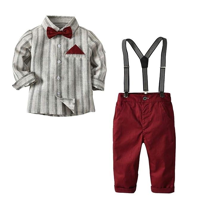 CARETOO Baby Jungen Bekleidungssets 3tlg Strampler Hut Fliege Krawatte Gentleman Set Baby Taufe Anzug Weste