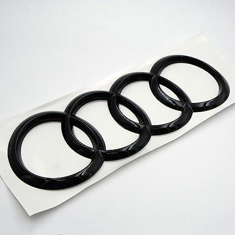 US85 AUDI A7 S7 RS7 Back Trunk Rings Badge Logo Emblem Decoration Modified  (Gloss Black)