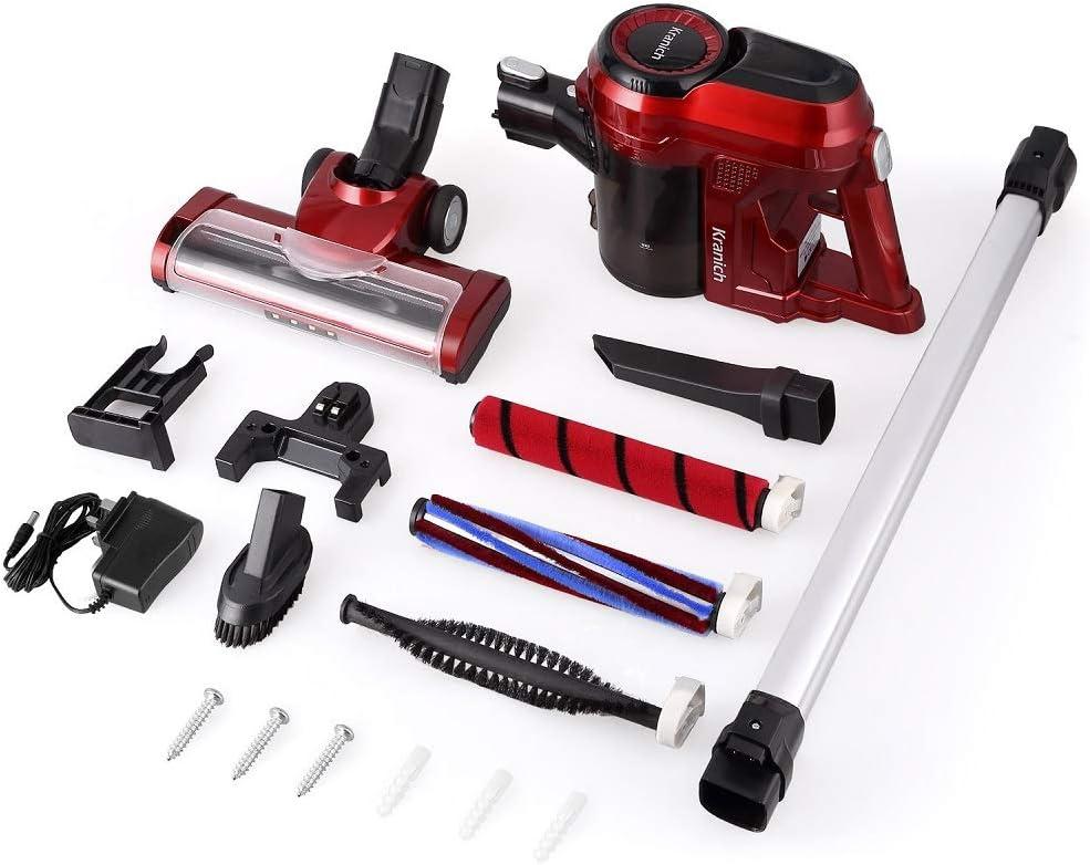 Kranich Vacuum Cleaner Cordless Powerful 2 in 1 Handheld Vac 2 Speeds 130W 11Kpa