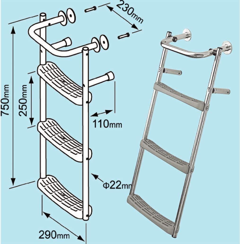 Escalera Para Espejo de Popa Vertical Plastimo: Amazon.es: Deportes y aire libre