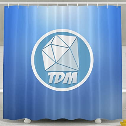 Youtube DanTDM Logo Polyester Waterproof Shower Curtain 7278inch Amazonca Home Kitchen