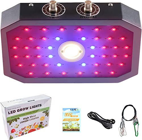 OFADD LED Grow Light for Indoor Plants, 1000W Plant Growing Lamp with Dual LED Chips and Adjustable Coverage, Full Spectrum Plant Light for Seedling, Greenhouse, Hydroponic and Flowers