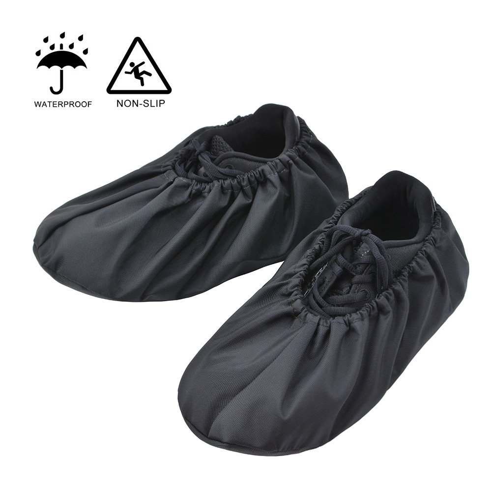 2 Pairs Durable Washable Reusable Shoe Covers Boot Overshoes for Household Work