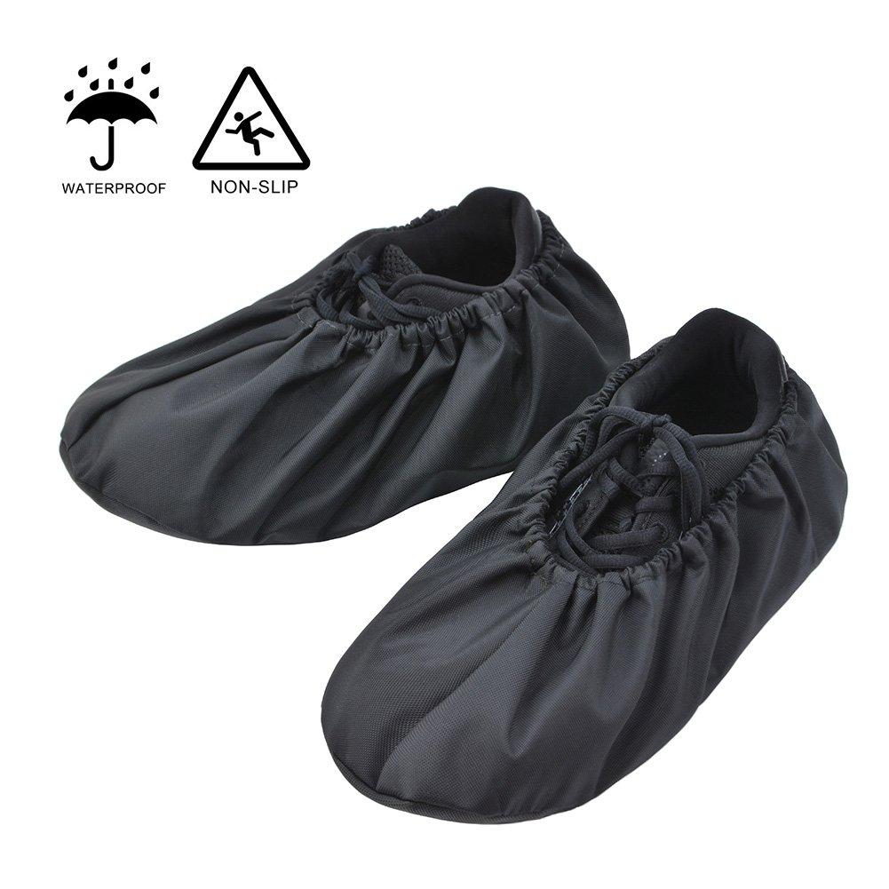 Couvre-chaussures et couvre-chaussures réutilisables de qualité supérieure pour les entrepreneurs, résistant à l'eau durable antidérapant