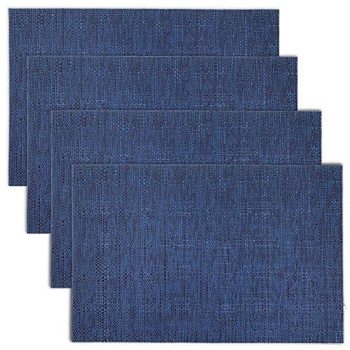 Texture Design Woven PVC Placemat (Navy), Set of 4 by Cait Chapman Home Fashion