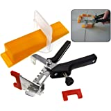 D Type 50pcs Tile Flooring Wall Leveling Spacer System w/Pliers Tool Set
