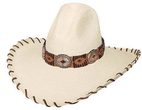 Bullhide Montecarlo SIERRA VISTA 20X Palm Leaf Straw GUS West Cowboy Hat 6  3 4 5a4611f65f5