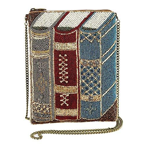 MARY FRANCES Best Seller Beaded Books Mini Crossbody Handbag