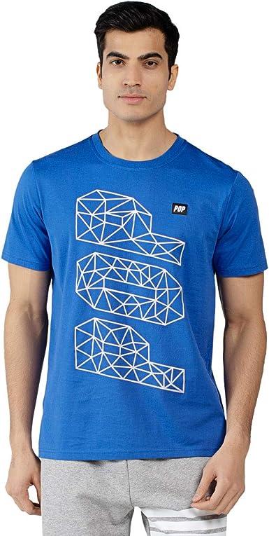Extreme Pop Hombre Camiseta de Manga Corta Camiseta de canalé ...