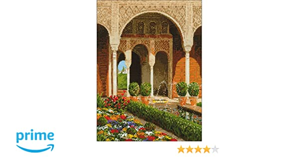 RIOLIS  1579  THE PALACE GARDEN  COUNTED CROSS STITCH KIT