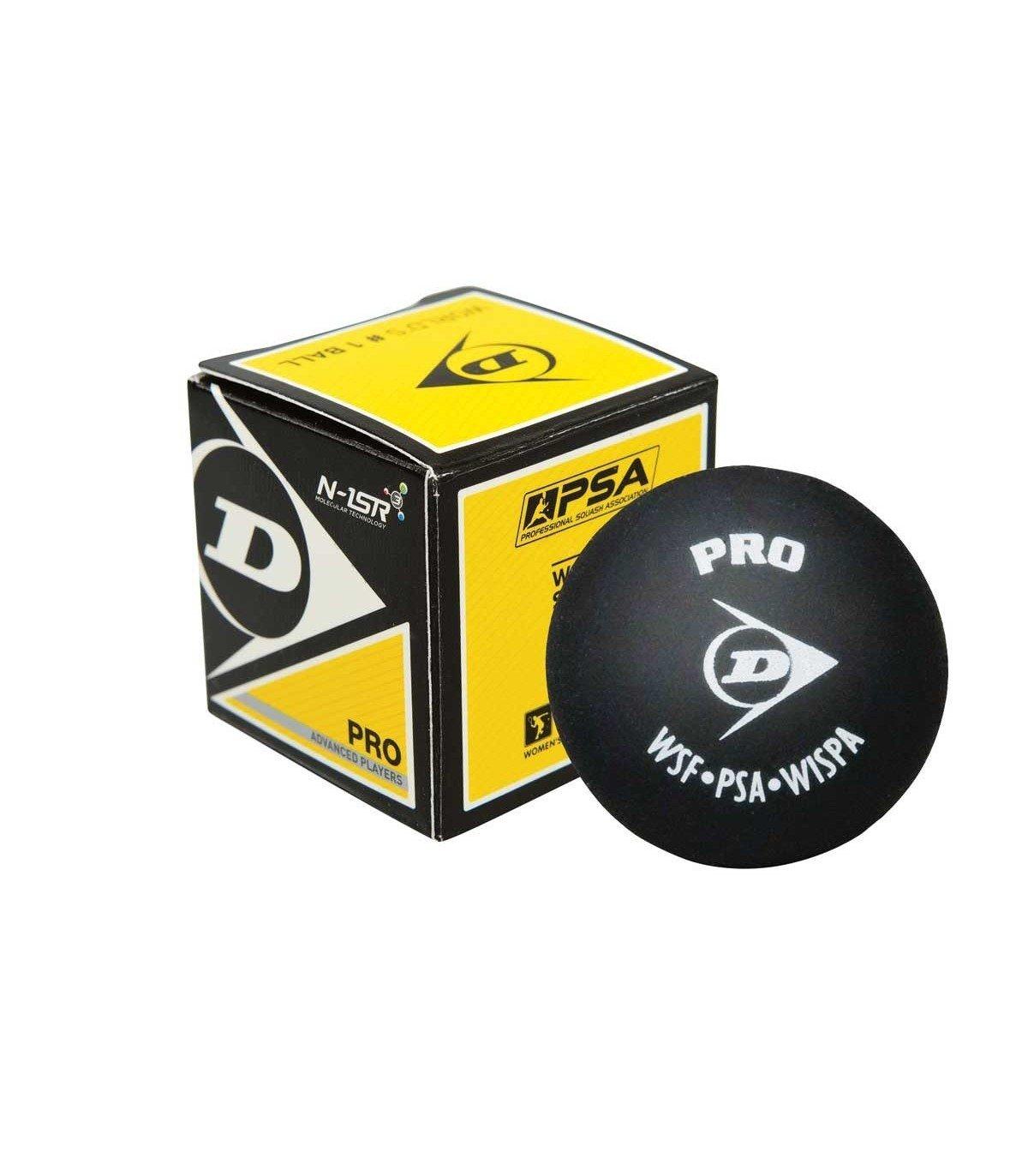 Dunlop Pro Balle De Squash Double Point Jaune Squash Ball Double Dot