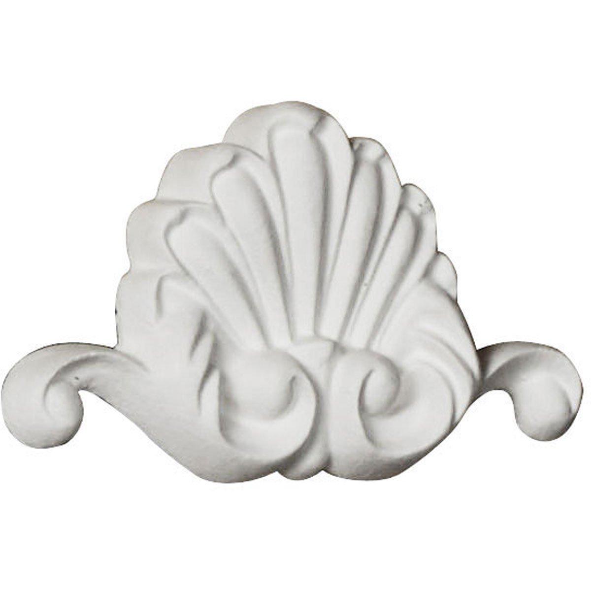 Ekena Millwork ONL03X02X00BO 3''W x 1 3/4''H x 3/8''P Bordeaux Shell Onlay White by Ekena Millwork (Image #3)