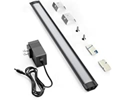 LED Under Cabinet Lighting, Under Counter Lighting with Touch Activated and 33 LED Chips Plug-in LED Light Bar for Kitchen, C