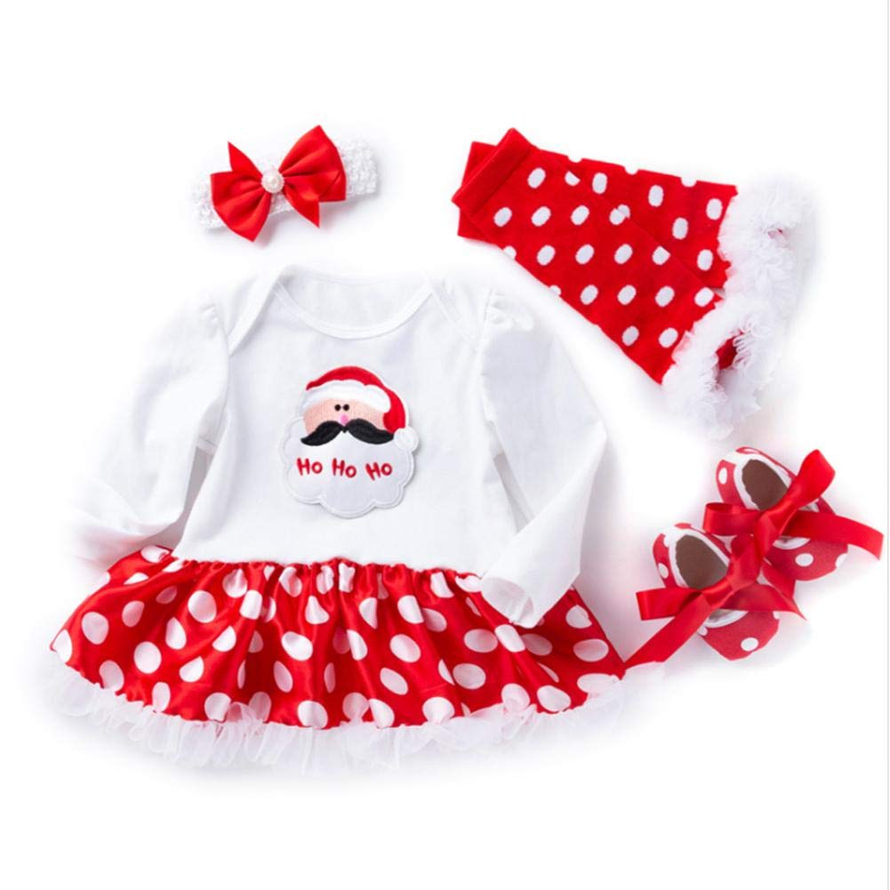 Autumn And Winter Christmas Baby Suit Long-Sleeved Dress 0-2 Years Old Girls Clothes Jumpsuit Four-Piece Suit