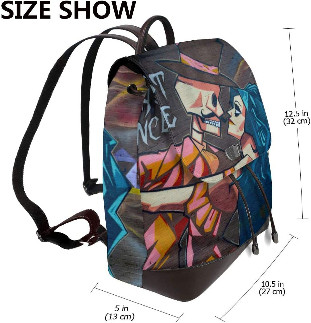 Perfect Appearance Street Art Womens Leather Backpacks Unique Design and Elegant Appearance Make It Suitable for Any Outfit
