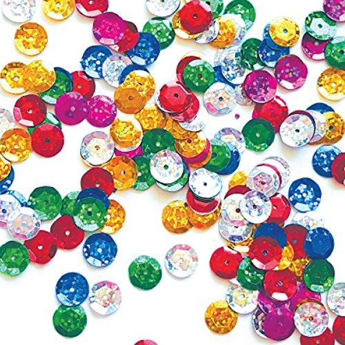 - Bulk Craft Cup Sequins Mixed Colors 10mm Cup Round Loose Sequins Paillettes and Spangles Craft Supplies-100g_Hologram