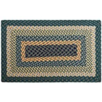 LOCHAS Braided Area Rug Hand Woven Reversible Solid Cotton Yarn Carpet for Living Room Bedroom Kitchen Bathroom Rugs, 1.6 x 2.6