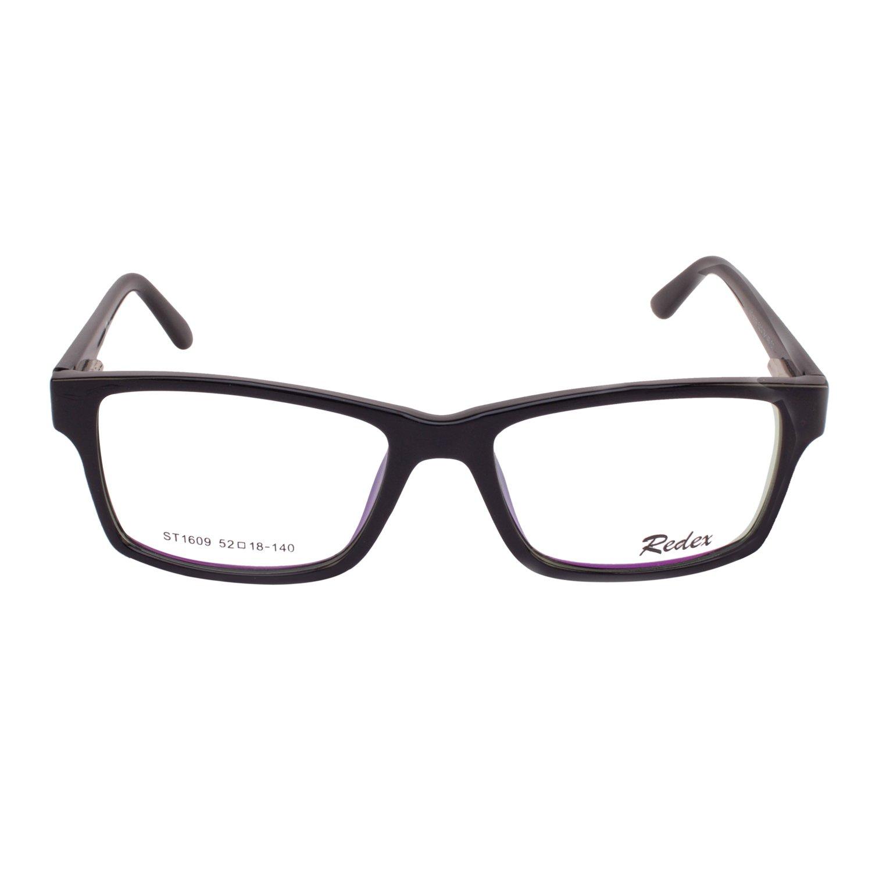335147d70c3 Redex Full Rim Rectangle Wayfarer Unisex Eyewear Spectacle Eye Frame  Reading Eyeglasses for Women Mens Boys Girls Clear Branded Discount Black  (230)  ...