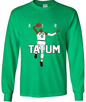 cheap for discount f1e80 3862b Prospect Shirts Long Sleeve Green Boston Tatum Air Pic T ...