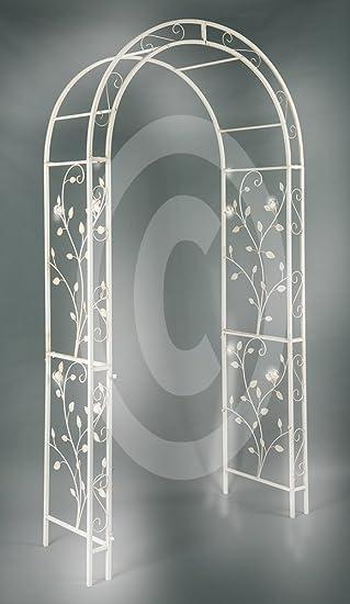 XL metal Rose arco Pergola enrejado adornado Hierro Rose hojas XXL ...