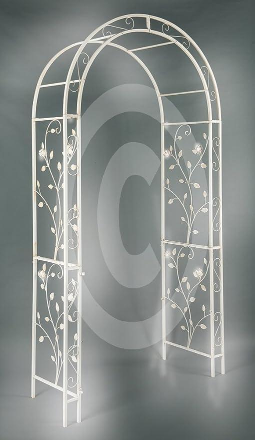 XL metal Rose arco Pergola enrejado adornado Hierro Rose hojas XXL 235 cm de alto: Amazon.es: Jardín