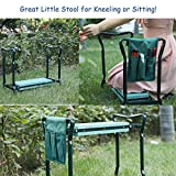 ORAF Garden Kneeler Seat Portable Garden Bench with 2 Free Tool Pouches EVA Foam Pad Outdoor Foldable Sturdy Gardening Tools for Gardeners
