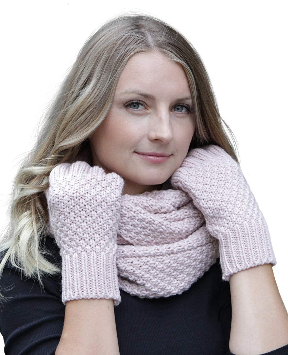 beanie con pompon Hilltop Set da inverno composto da sciarpa e berretto coordinato in 100/% cotone