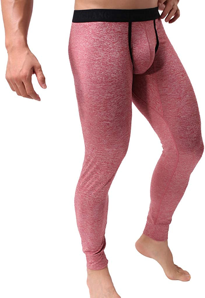 Mens Classic Thermal Underwear Bottoms Compression Baselayer Long Johns Pants