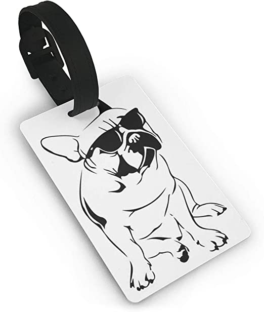 Colorful Pug Luggage Tags Suitcase Luggage Tags Travel Accessories Baggage Name Tags 2 PCS