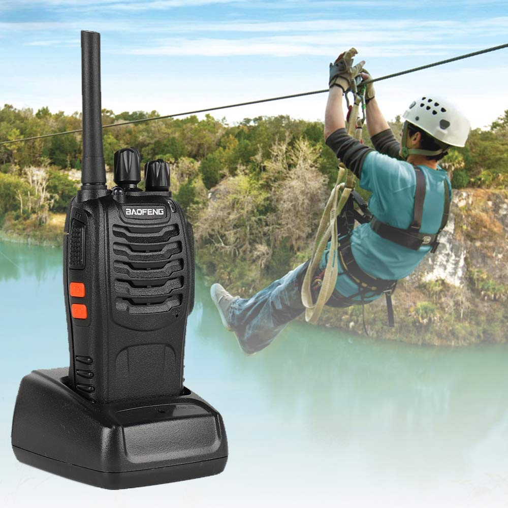 LDJC Two-Way Walkie-Talkie, 2 Portable Walkie-Talkies Battery 1500 Mah 5W Output Power 400/470 Frequency Range for Travel/Outdoor Sports