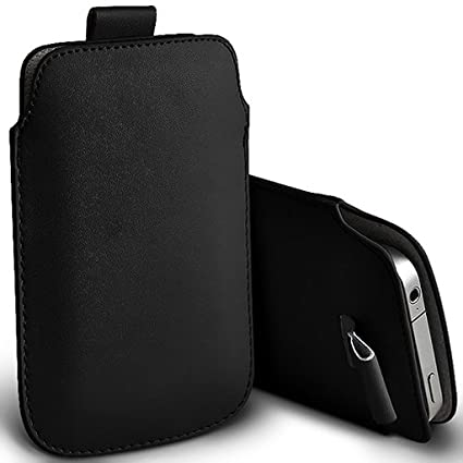 uk availability d1903 ec897 ONX3 (Black) Alcatel Lume Case Slip In Pull Tab Faux Leather Pouch Case  Cover