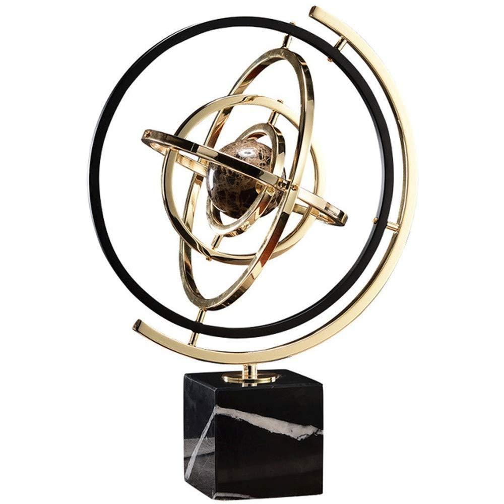 Desktop Globus HJCA Globe - Marmor European Model House Dekoration Wohnzimmer Büro Studie TV-Schrank Xuanguan Dekoration - Größe  31  44 CM (Farbe  Gold) Lernutensilien, büro dekoration, handwerk