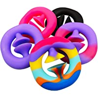 5-Pack Rainbow Fidget Snappers Toy,Hand Grip Squeeze Grab Pop Sensory Toys,Party Popper Noise Maker Stress Relief Pop…