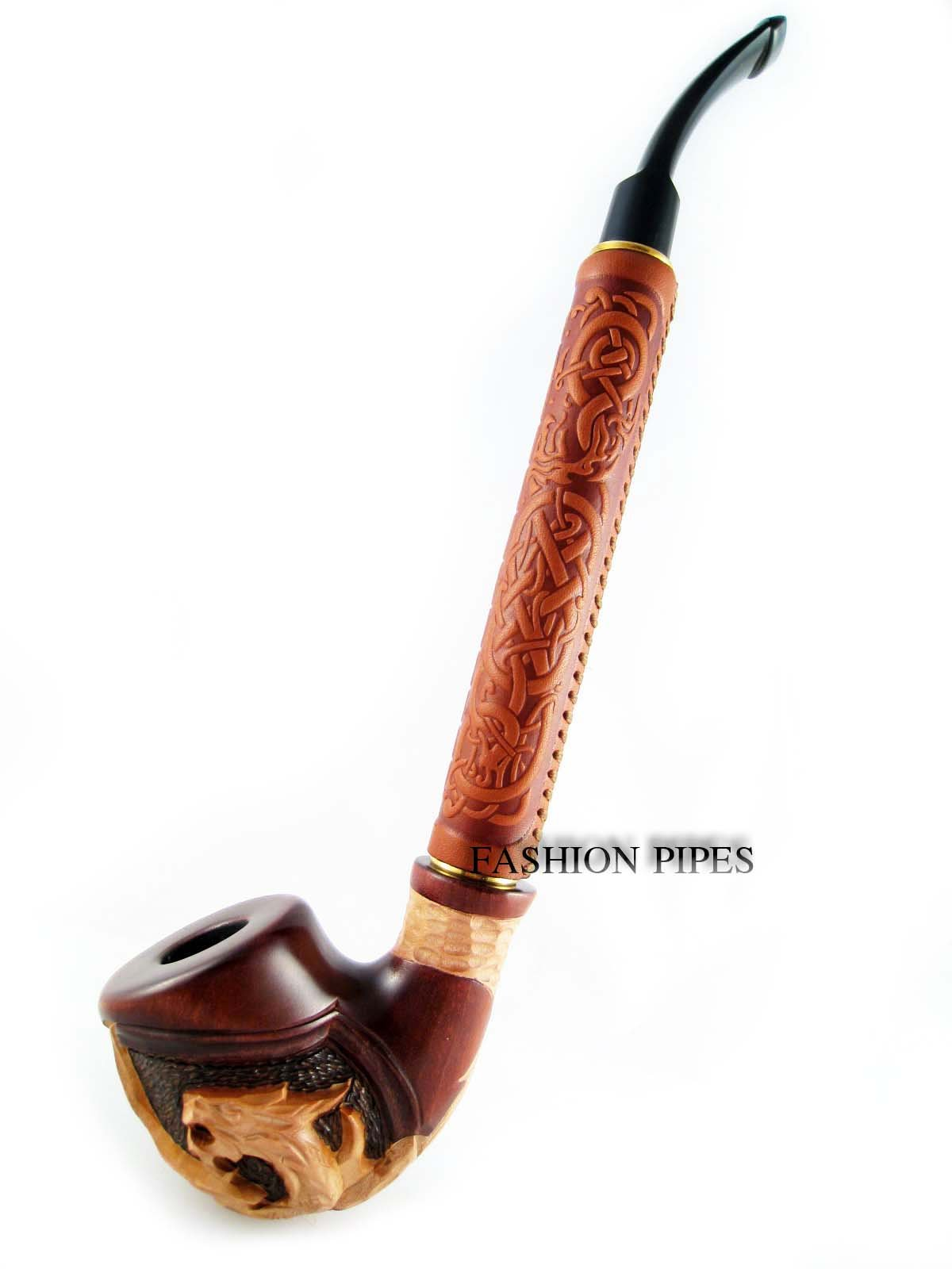 Exclusive Fashion Pipes - Long Churchwarden ''DRAGON'' Tobacco Smoking Pipe (2, 2) by Fashion Pipes (Image #5)