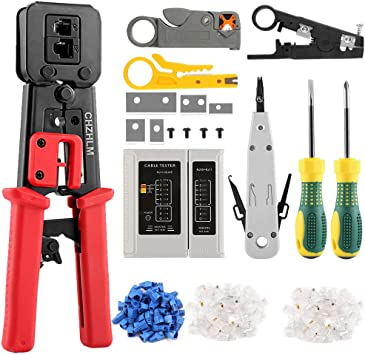 Wire Terminal Crimpering Tool//Cutters//Strippers for Insulated Terminals RJ45 Crimp Tool Ethernet Crimper Networking Tool Kit