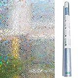 Zindoo Privacy Window Film Window Coverings Window Sticker Frosted Window Film Static Glass Window Vinyl Privacy Film Self-adhesive Window Door Film